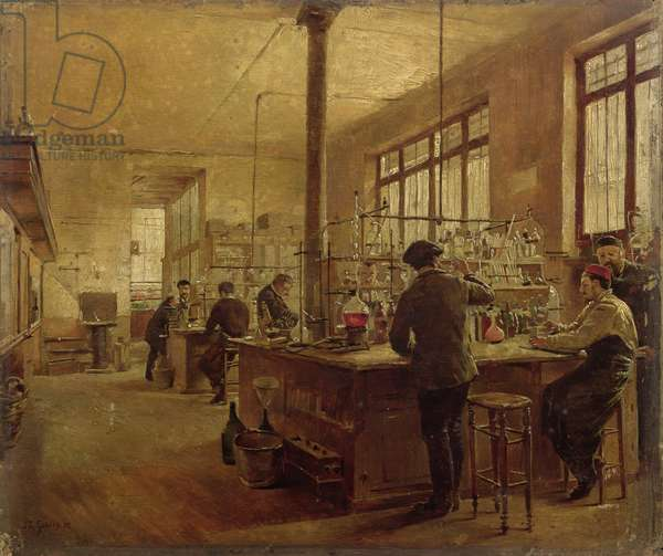 The Laboratory, 1887 (oil on canvas)