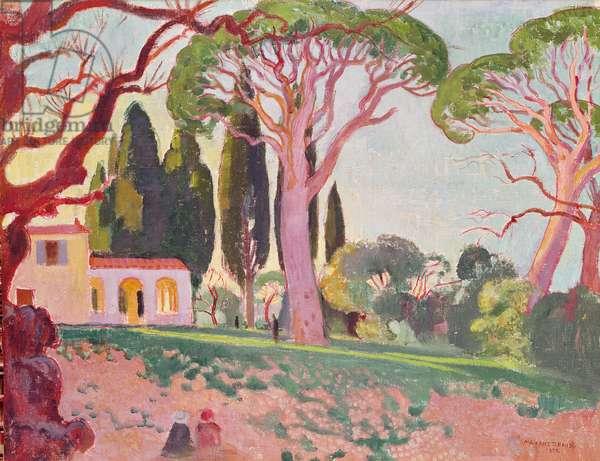 Saint-Cassien Chapel, Cannes, 1922 (oil on canvas)