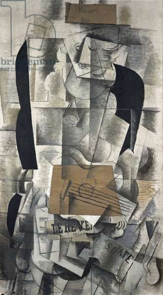 Woman Playing a Guitar, 1913 (oil on canvas)