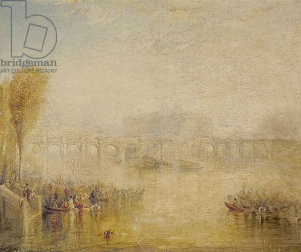 View of the Pont Neuf, Paris (oil on canvas)