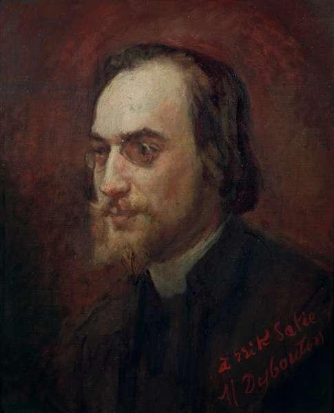 Erik Satie (1866-1925) (oil on canvas)