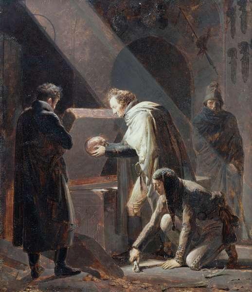 Dominique Vivant Denon (1747-1825) Replacing the bones of Le Cid in his Tomb (oil on canvas)