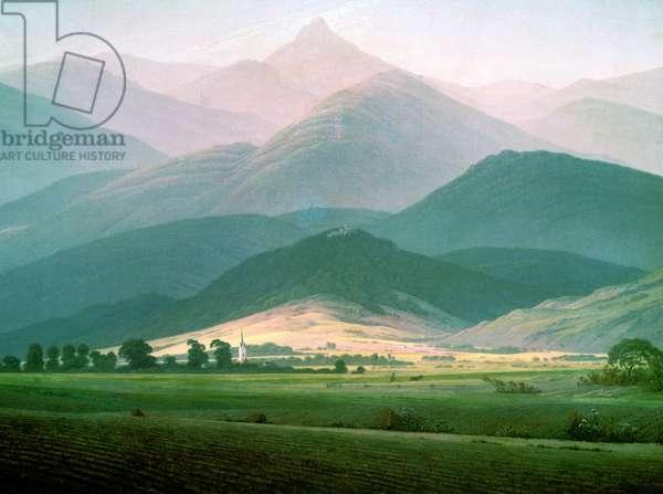 Landscape in the Riesengebirge, 1810-11 (oil on canvas)
