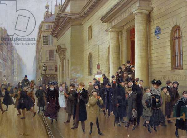 Leaving the Lycee Condorcet, 1903 (oil on canvas)