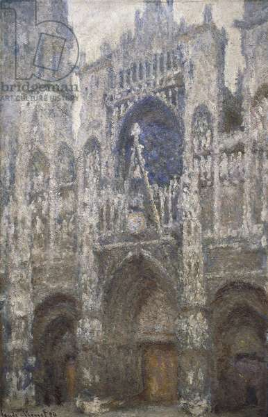 Rouen Cathedral, the west portal, Harmony in Grey, 1894 (oil on canvas)