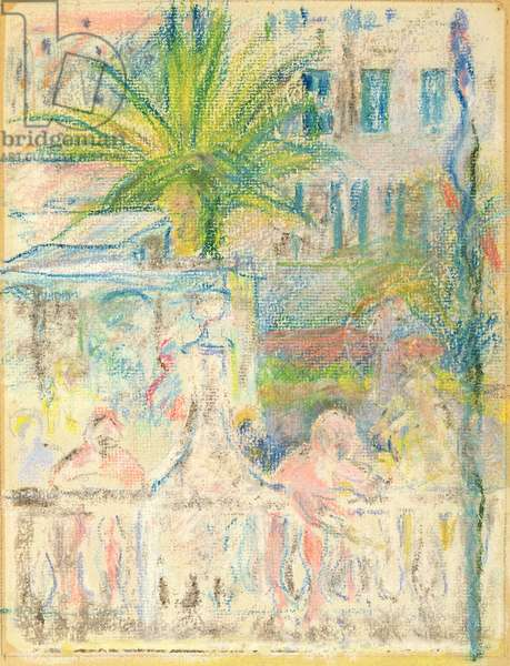 The Nice Carnival, 1889 (pastel on paper)