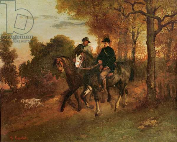The Return from the Hunt, 1857 (oil on canvas)