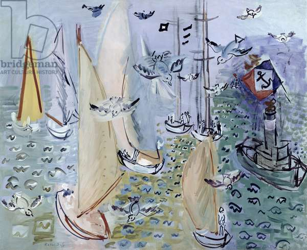 Regates with the Gulls, c.1930 (oil on canvas)