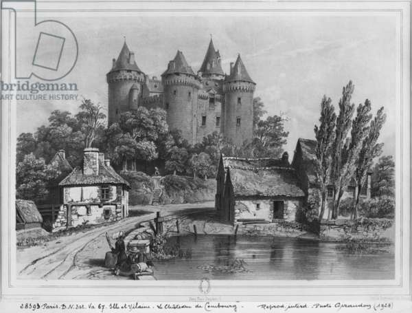 The Castle of Combourg (see also 382414) (litho)