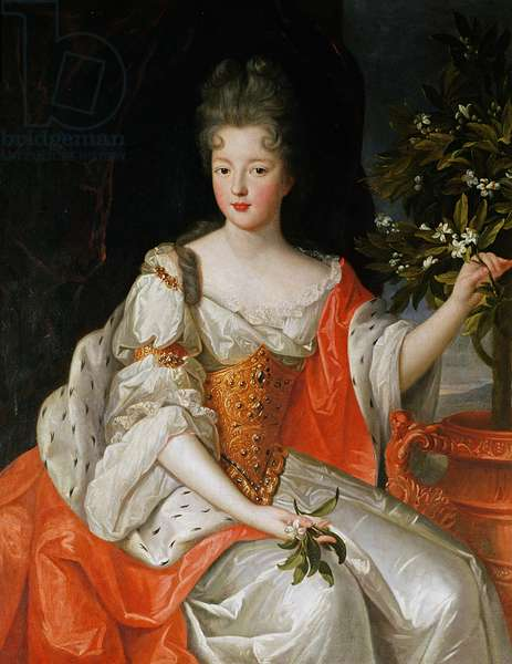Portrait of Louise-Francoise de Bourbon (1673-1743) late 17th century (oil on canvas)