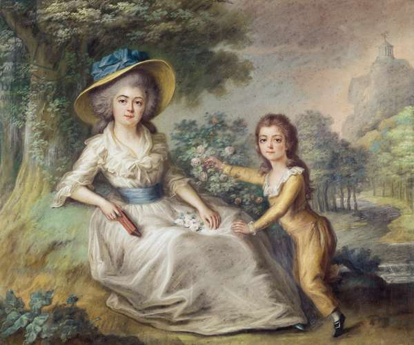 Marie Dupin de Francueil (1748-1821) and her Son, Maurice (oil on canvas)