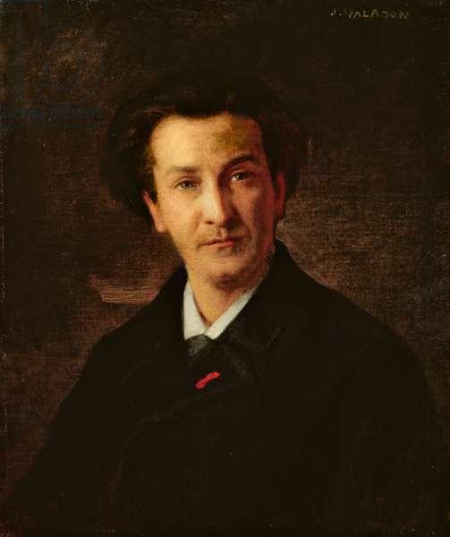 Portrait of Francois Coppee (1842-1908) (oil on canvas)