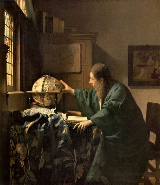 The Astronomer, 1668 (oil on canvas)