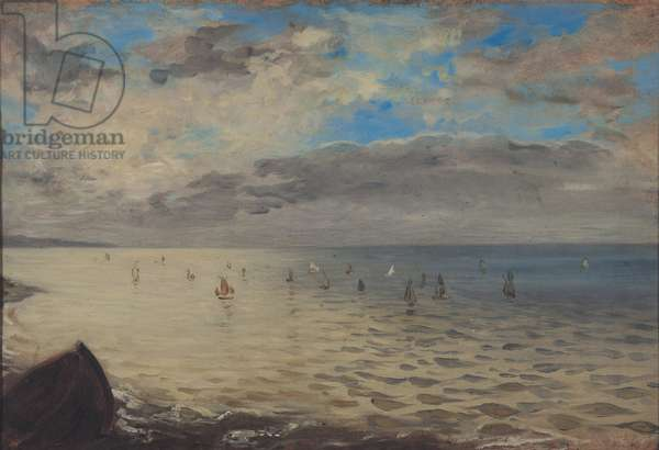 Sea Viewed from the Heights of Dieppe (oil on canvas)
