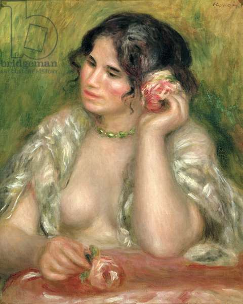 Gabrielle with a Rose, 1911 (oil on canvas)