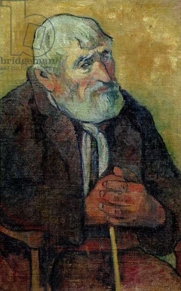 Portrait of an Old Man with a Stick, 1889-90 (oil on canvas)