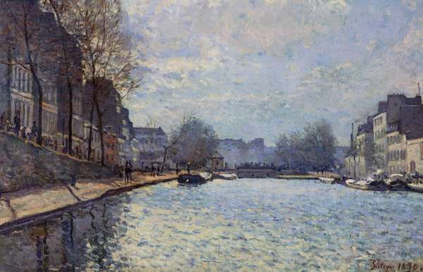 View of the Canal Saint-Martin, Paris, 1870 (oil on canvas)