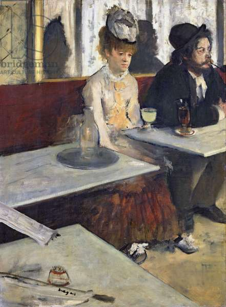 In a Cafe, or The Absinthe, c.1875-76 (oil on canvas)