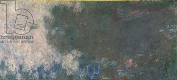 Waterlilies - The Clouds (right section), 1914-18 (oil on canvas) (see also 64184 & 64185)