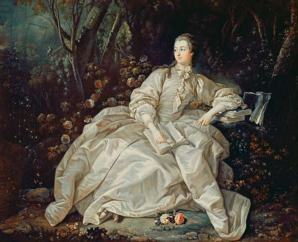 Madame de Pompadour (1721-64) (oil on canvas)