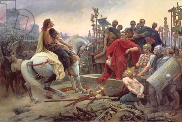 Vercingetorix throws down his arms at the feet of Julius Caesar, 1899 (oil on canvas)