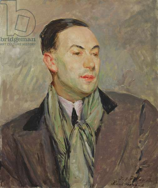 Study for a Portrait of Paul Morand (1888-1976) (oil on card)