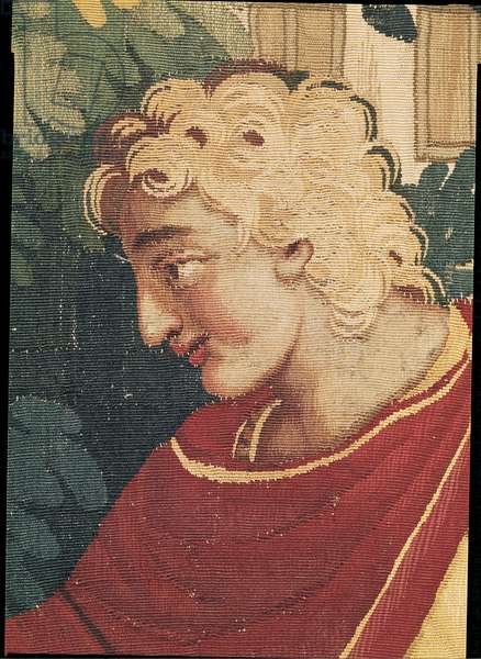 Cephalus and Procris, detail of the head of Cephalus, Beauvais Workshop (tapestry)