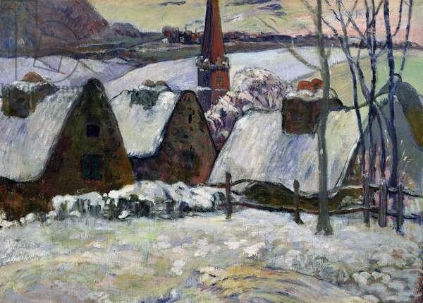 Breton village under snow, 1894 (oil on canvas)