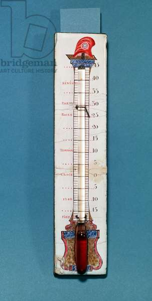 Thermometer surmounted with a phrygian bonnet (enamel)
