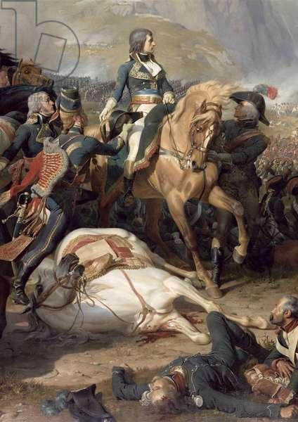 The Battle of Rivoli, 1844 (oil on canvas) (detail of 28341)
