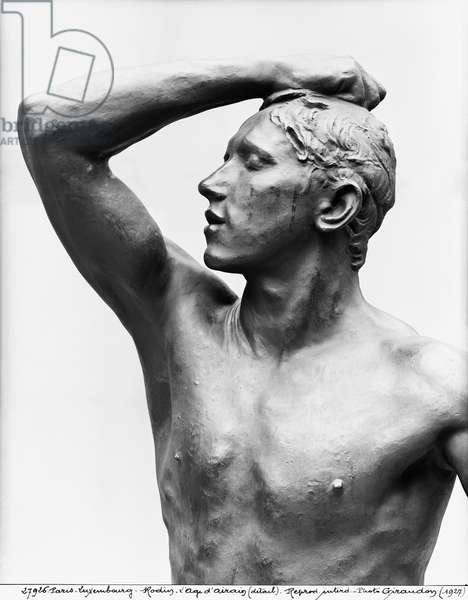 The Age of Bronze, after 1877 (bronze) (b/w photo) (detail)