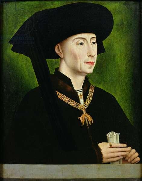 Portrait of Philippe le Bon (1396-1467) Duc de Bourgogne (oil on panel)