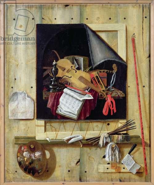 Trompe l'Oeil Still Life, 1665 (oil on canvas)