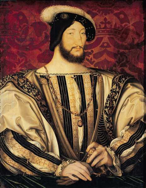 Francois I (1494-1547) (oil on panel)