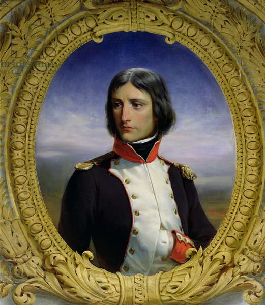 Napoleon Bonaparte (1769-1821) as Lieutenant Colonel of the 1st Battalion of Corsica, 1834 (oil on canvas)