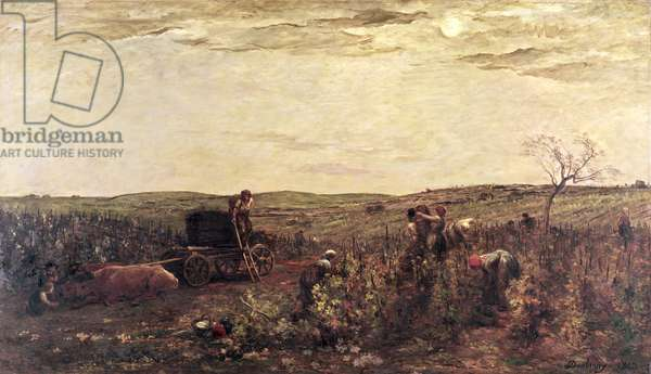 The Wine Harvest in Burgundy, 1863 (oil on canvas)
