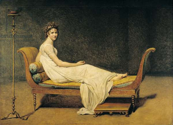 Madame Recamier, 1800 (oil on canvas)