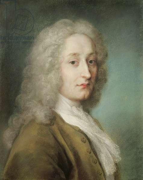 Portrait of Antoine Watteau (1684-1721) (pastel on paper)