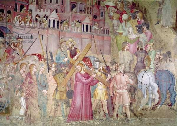 The Road to Calvary, from the Spanish Chapel, c.1365 (fresco)