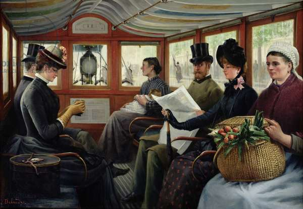 On the Omnibus, 1880 (oil on canvas)