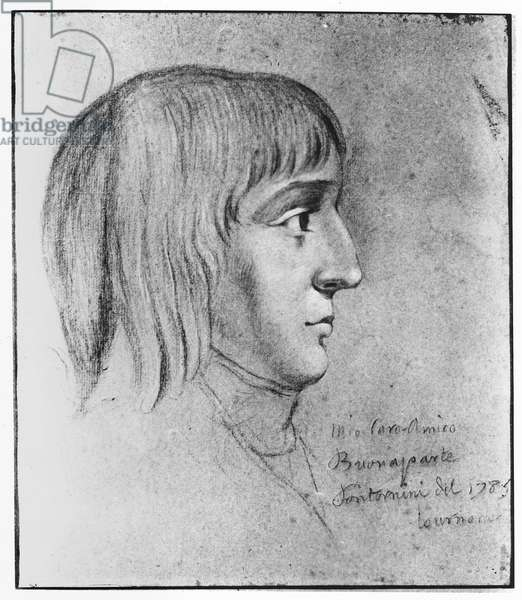 Napoleon Bonaparte, aged 16, 1785 (pencil on paper)