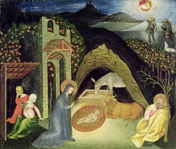 The Nativity (oil on panel)