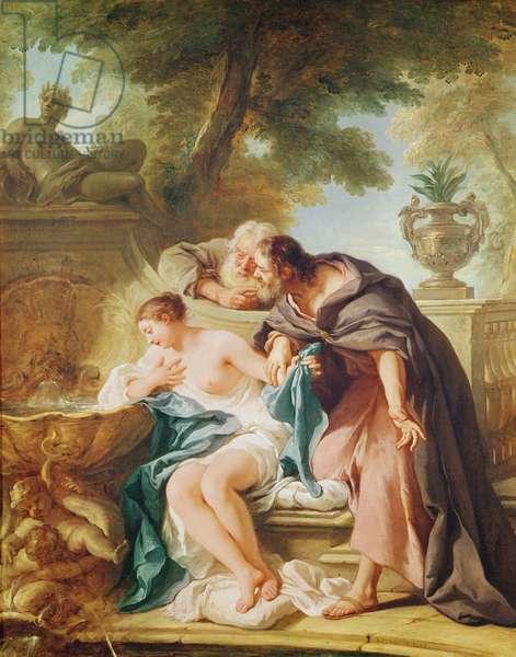 Susanna and the Elders, 1727 (oil on canvas)