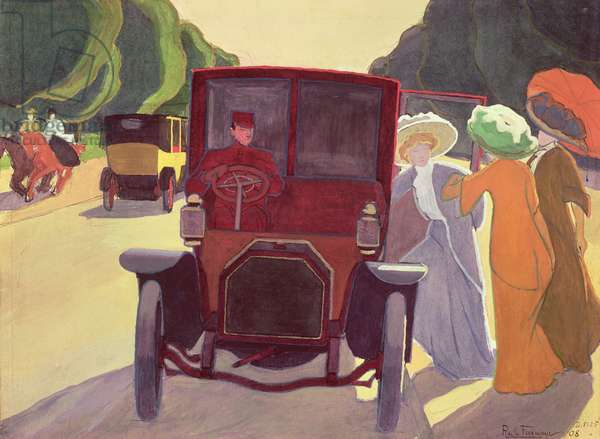 The Road with Acacias, 1908 (gouache on paper)