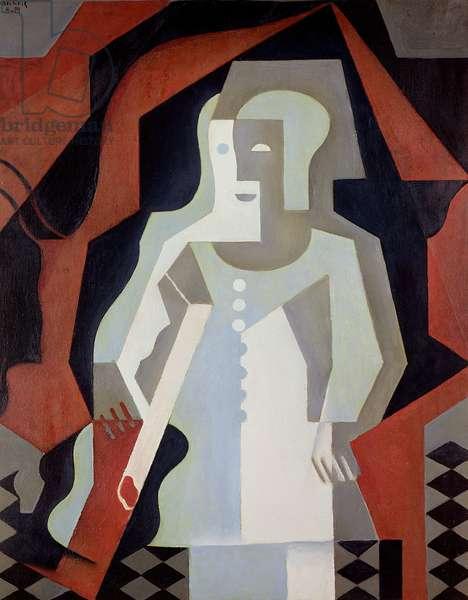 Pierrot, 1919 (oil on canvas)