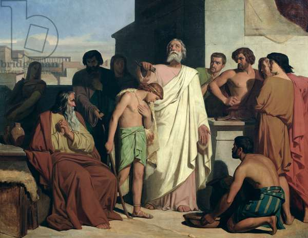 Anointing of David by Samuel, 1842 (oil on canvas)
