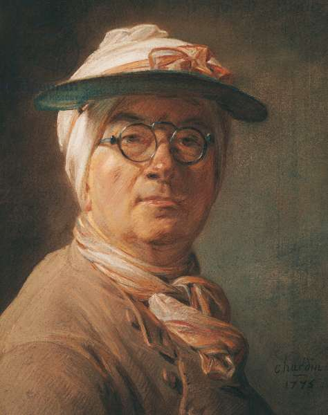 Self Portrait, 1775 (pastel on paper)