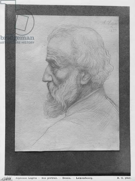 Head of an old man with long hair, 1899 (silverpoint on paper)