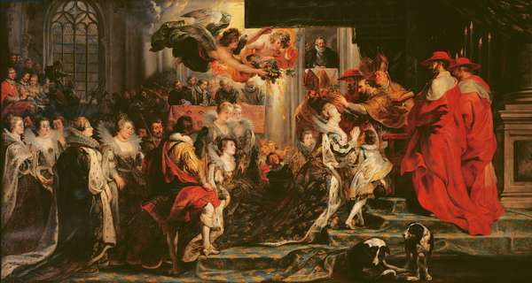 The Coronation of Marie de Medici (1573-1642) at St. Denis, 13th May 1610, 1621-25 (oil on canvas)