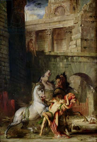 Diomedes Being Eaten by his Horses, 1865 (oil on canvas)